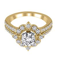 3/4 ct. tw. Diamond Semi-Mount Engagement Ring in 14K Yellow Gold