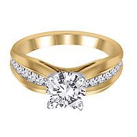 3/8 ct. tw. Diamond Semi-Mount Engagement Ring in 14K Yellow Gold