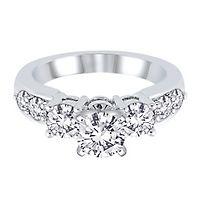 1 ct. tw. Diamond Semi-Mount Engagement Ring in 14K White Gold