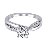 1/7 ct. tw. Diamond Semi-Mount Engagement Ring in 14K White Gold