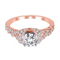 1/2 ct. tw. Diamond Semi-Mount Engagement Ring in 14K Rose Gold
