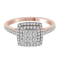 1/2 ct. tw. Multi-Diamond Engagement Ring in 14K Rose & White Gold