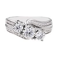 3/4 ct. tw. Diamond Three-Stone Ring in 10K White Gold