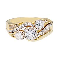 1 ct. tw. Diamond Three-Stone Ring in 14K Yellow Gold