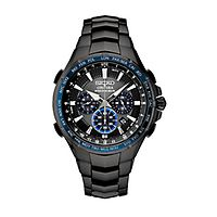 Seiko® Coutura Solar Black Chronograph Men's Watch