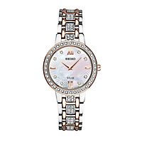 Seiko® Essentials Solar Crystal Two-Tone Ladies' Watch