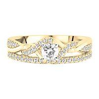 1/2 ct. tw. Diamond Engagement Ring Set in 10K Yellow Gold