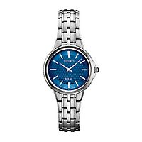 Seiko® Essentials Solar Blue Pattern Ladies' Watch