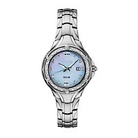 Seiko® Diamonds Light Blue Solar Ladies' Watch