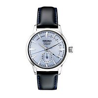 Seiko® Presage Automatic Leather Men's Watch