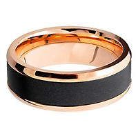 Men's Band in Elysium Diamond & 14K Rose Gold, 8MM