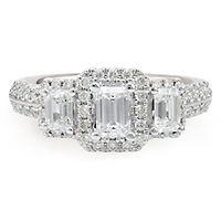 1 1/2 ct. tw. Diamond Three-Stone Ring in 14K White Gold