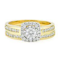 3/4 ct. tw. Diamond Engagement Ring Set in 14K Yellow Gold