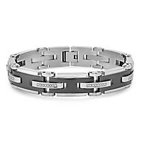 Men's 1/3 ct. tw. Diamond Bracelet in Stainless Steel