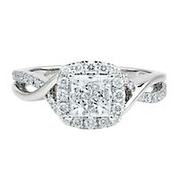 7/8 ct. tw. Multi-Diamond Engagement Ring in 14K White Gold