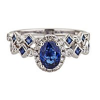 Shades of Love™ Sapphire & Diamond Engagement Ring Set in 14K White Gold