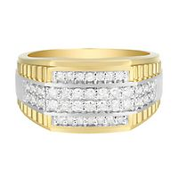 Men's 3/4 ct. tw. Diamond Ring in 10K Yellow Gold
