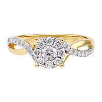 1/2 ct. tw. Diamond Engagement Ring in 14K Yellow Gold
