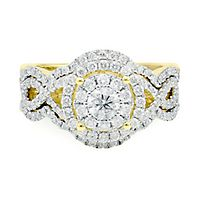 1 1/4 ct. tw. Diamond Engagement Ring Set in 14K Yellow Gold