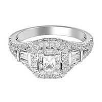 1 1/4 ct. tw. Diamond Halo Engagement Ring in 14K White Gold