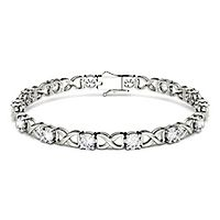 Forever One® 2 7/8 ct. tw. Moissanite Bracelet in 14K White Gold