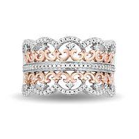 Enchanted Disney Princess 1/3 ct. tw. Diamond Ring in Sterling Silver & 10K Rose Gold