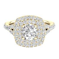 My Diamond Story® 7/8 ct. tw. Diamond Engagement Ring in 14K Yellow Gold