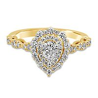 TRULY™ Zac Posen 1 ct. tw. Diamond Engagement Ring in 14K Yellow Gold