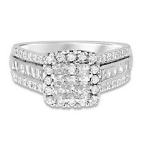 1 1/2 ct. tw. Diamond Engagement Ring in 14K White Gold