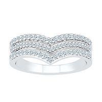 1/3 ct. tw. Diamond Chevron Ring in 10K White Gold