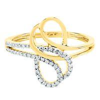 1/7 ct. tw. Diamond Ring in 14K Yellow Gold