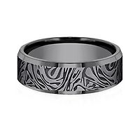Men's Mokume Pattern Band in Tantalum