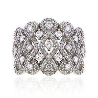 1 ct. tw. Diamond Weave Ring in 10K White Gold