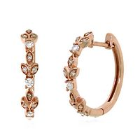 1/3 ct. tw. Diamond Huggie Earrings in 10K Rose Gold