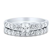 1 ct. tw. Diamond Engagement Ring Set in 14K White Gold