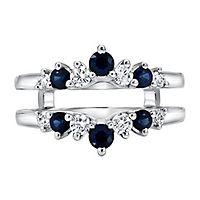 1/3 ct. tw. Diamond & Sapphire Ring Enhancer in 14K White Gold