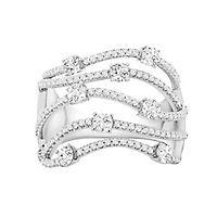 1 ct. tw. Diamond Multi-Row Ring in 10K White Gold