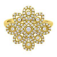 1/2 ct. tw. Diamond Vintage Ring in 10K Yellow Gold