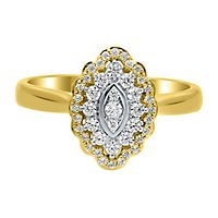 1/3 ct. tw. Diamond Halo Ring in 10K Yellow Gold