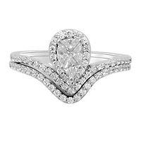 3/4 ct. tw. Diamond Engagment Ring Set in 14K White Gold