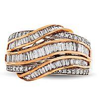 7/8 ct. tw. Diamond Ring in 14K Rose & White Gold