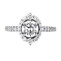 5/8 ct. tw. Diamond Semi-Mount Engagement Ring in 14K White Gold
