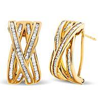 1/2 ct. tw. Diamond Earrings in 14K Yellow Gold