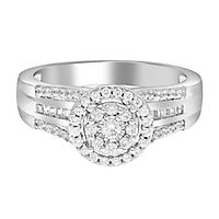 1/2 ct. tw. Multi-Diamond Halo Engagement Ring in 10K White Gold