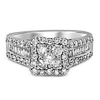 1 1/3 ct. tw. Multi-Diamond Halo Engagement Ring in 14K White Gold