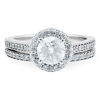 1 3/8 ct. tw. Diamond Engagement Ring Set in 14K White Gold