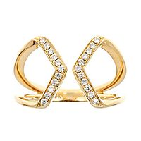 1/7 ct. tw. Diamond Open Ring in 10K Yellow Gold