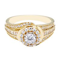 3/4 ct. tw. Diamond Engagement Ring in 10K Yellow Gold