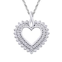 1/4 ct. tw. Diamond Heart Pendant in 14K White Gold