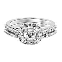 1 1/8 ct. tw. Diamond Engagement Ring Set in 14K White Gold